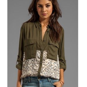Free People Welcome To The Jungle Button Down
